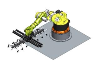 冲压自动化—机器人直线七轴