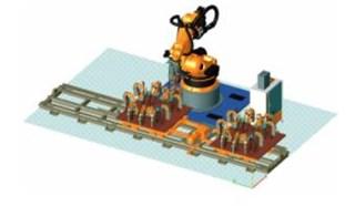 焊装自动化—滑台及二手机器人点焊演示